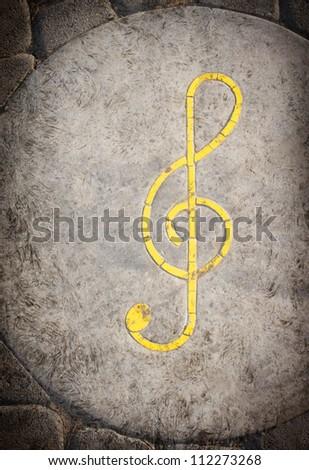 grunge musical note background