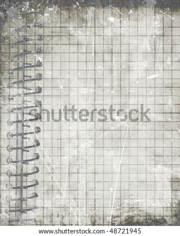 grunge notebook with some stains on it
