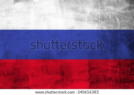 Grunge of Russia Flag  #340656383