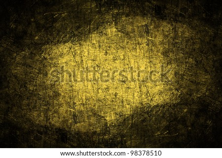 Grunge of yellow metal texture background