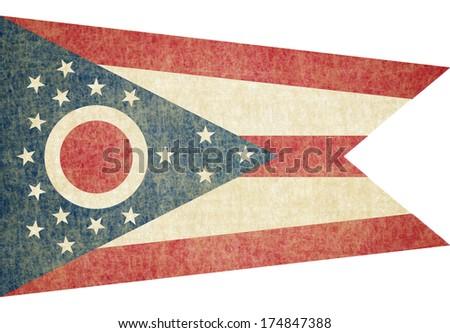 Grunge Ohio state Flag