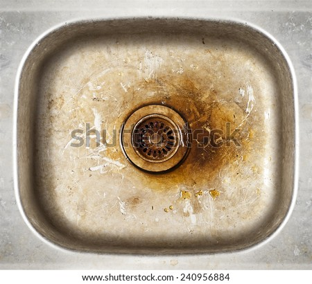 grunge old dirty metal rusty sink background