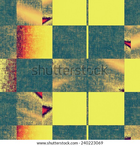 Grunge old-fashioned background with space for text or image. With different color patterns: blue; cyan; yellow (beige); brown; red (orange)