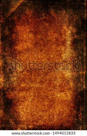 Grunge old paper background perfect for halloween concept, orange horror obsolete texture #1494015833