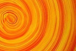 Grunge orange wall background