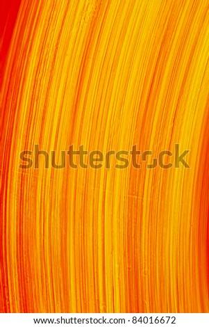 Grunge orange wall background - stock photo