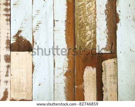 Grunge paint on old wood texture