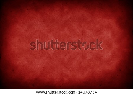 Grunge paper background.  High resolution vintage paper with stains and detailed texture, in red tone