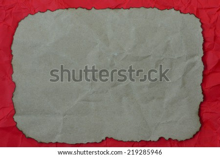 Grunge paper copy space on red mussy paper background