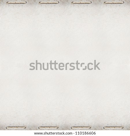 grunge paper design blank template with rope binding on top and bottom border
