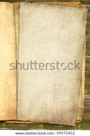grunge papers stack with blank place