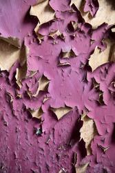 Grunge peeling paint background texture.