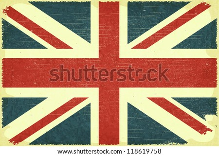 Grunge poster - British flag in Retro style - JPEG version