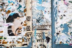 grunge poster wall