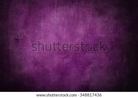 grunge purple background or texture with dark vignette borders