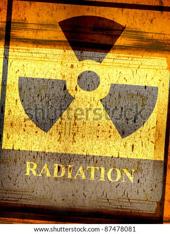 grunge radiation symbol sign