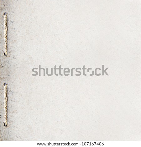 grunge recycle paper background design with rope binding
