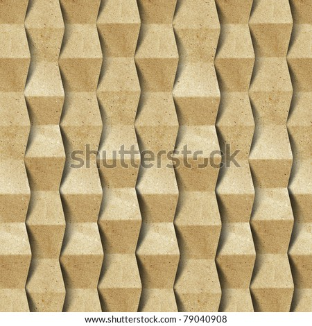 Grunge recycled folded paper craft background