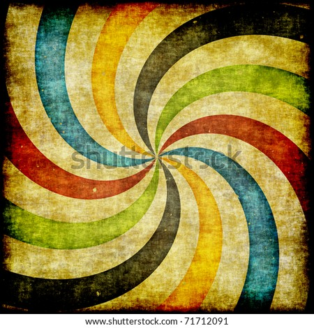 Grunge retro  illustration of  swirling stripes