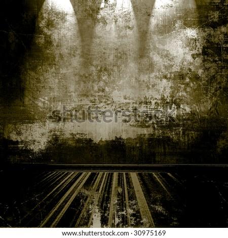 Grunge Room With Spotlights