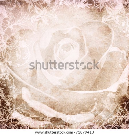grunge rosees background for your design