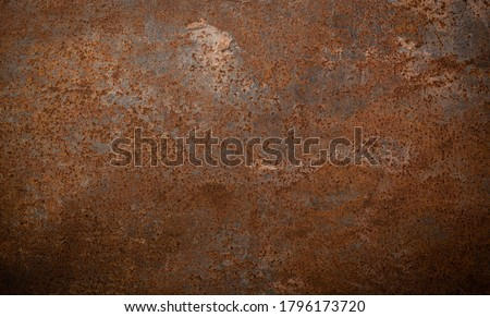 Grunge rusted metal texture, rust and oxidized metal background. Old metal iron panel Foto d'archivio ©