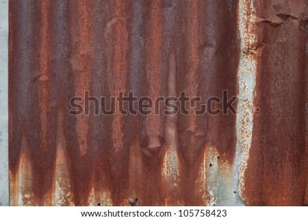 Grunge rusty corrugated iron metal
