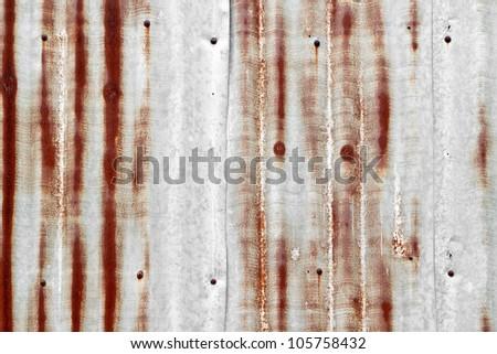 Grunge rusty corrugated iron metal