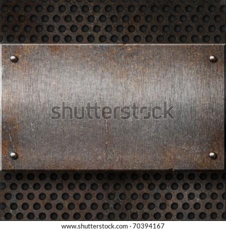 Old metal plates