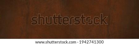 Grunge rusty orange brown metal steel stone background texture banner panorama Stockfoto ©