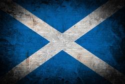 Grunge Scotland flag