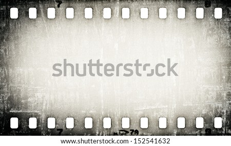 grunge scratched film strip background