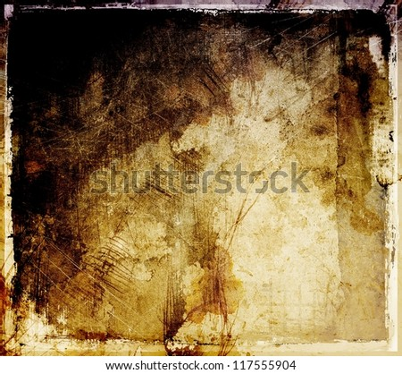 Grunge sepia abstract background