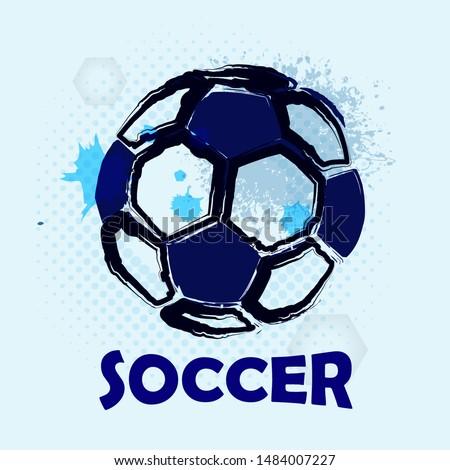 Grunge Soccer Ball ( T-shirt, Poster, Banner, backdrops design )