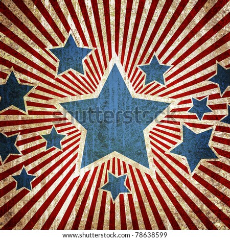 Grunge star metal rusty america pattern independent day