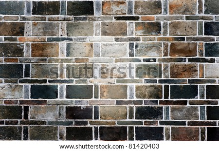 Grunge stile of brick wall. - stock photo