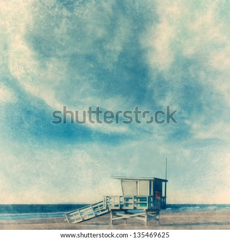 grunge style beach background...
