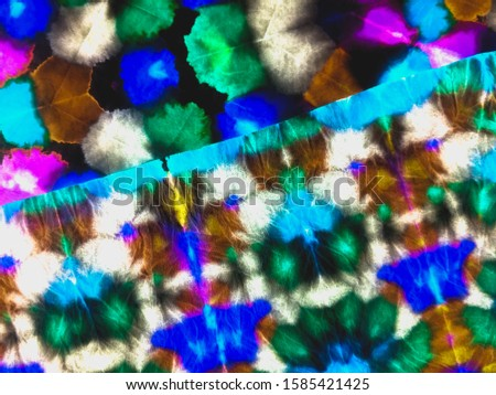 Grunge style. Brushstrokes on watercolour print. Trendy tie-dye pattern. Ink blur. Abstract dynamic background. Dynamic artistic splashes. Ethnic pattern. Multicolor patchwork.