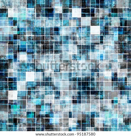 grunge style cool blue mosaic background