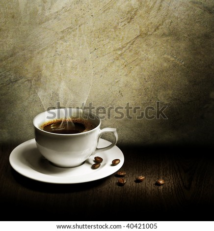 Grunge Styled Still-life with Coffee