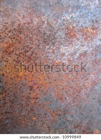 Grunge Surface Of Corrugated Steel