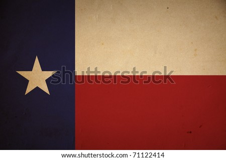 Grunge Texas state flag background.