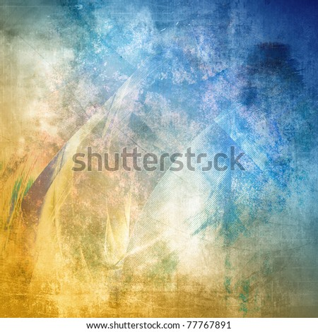 Grunge texture, blue and brown color
