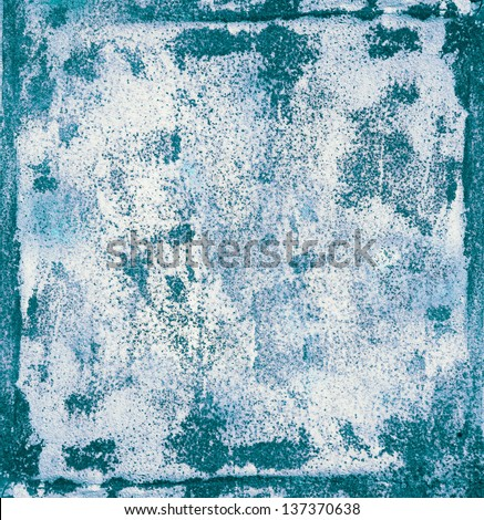 Grunge texture of a rusty blue surface