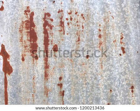 Grunge texture of old rusty metal with scratches and cracks background. Rusty Zinc Background. Old and rusty damaged texture.
