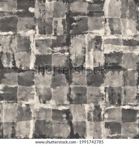Grunge Textured Checked Seamless Pattern