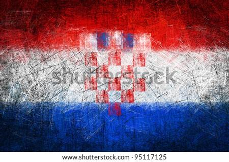 Grunge textured flag