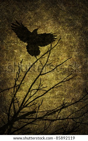 Grunge textured Halloween night background