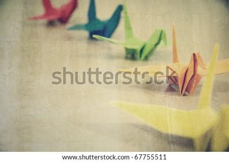 Grunge textured Origami