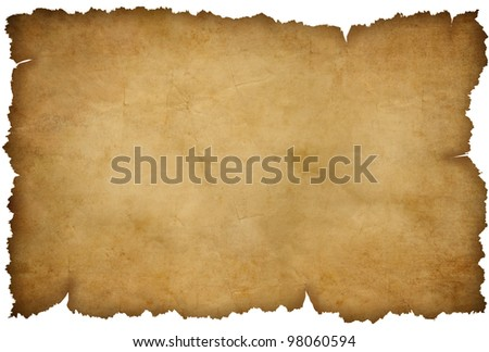 Grunge torn paper isolated on white